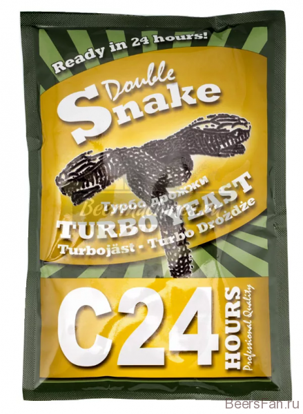 Турбо дрожжи Double Snake Turbo Yeast C 24, 175 гр