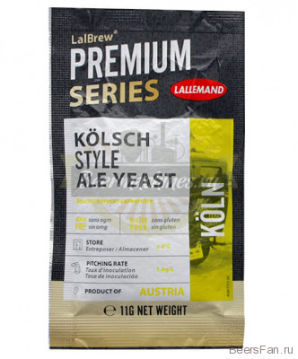 "Дрожжи Lallemand Lalbrew ""Kolsh Style Ale"", 11 гр"